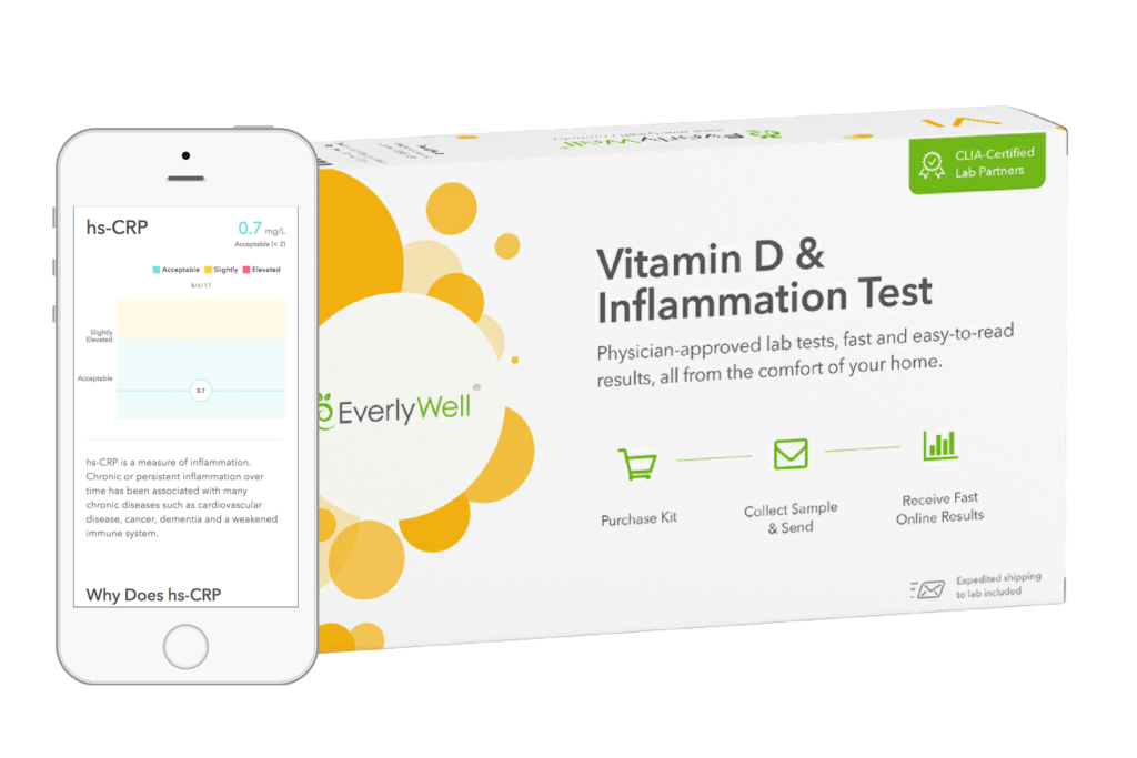 Vitamin D Inflammation - Device Mockup - Phone and Box